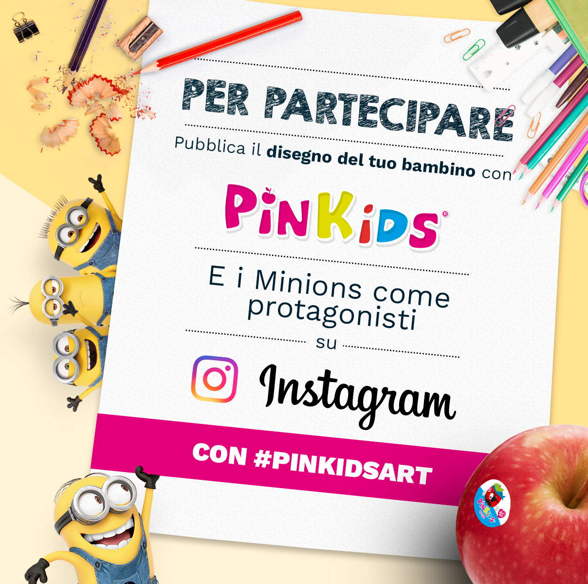 In regalo per voi un set creativo! Con Pink Lady®
